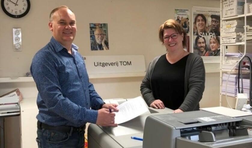 <p>Theo Tulp en Ankie Meijer van TOM UIitgeverij.</p>