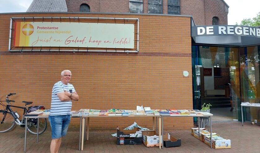 <p>Wim Slooijer was &eacute;&eacute;n van de mensen die woensdag 21 juli mensen verwelkomde in De Regenboog.&nbsp;</p>