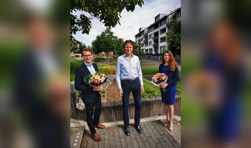 <p>Jaimi van Essen, Louis Nijmeijer en Mari Ailo-Zaia: hoge <br>verwachtingen voor de komende gemeenteraadsverkiezingen.</p>