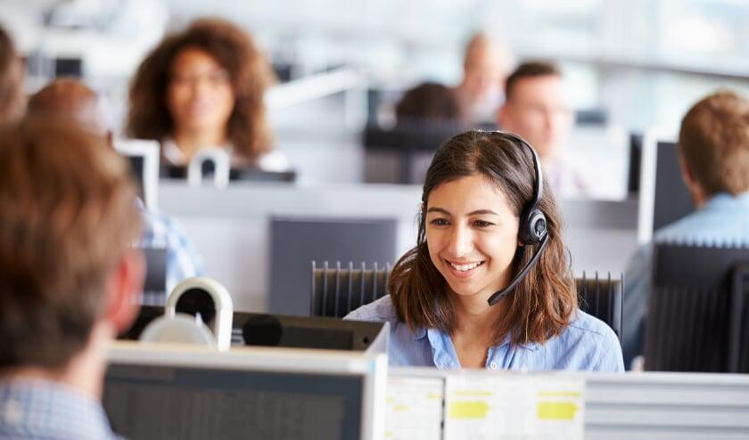 Algemene foto van een callcenter medewerker