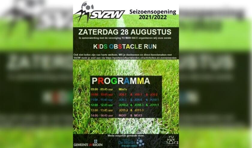 <p>Een programma vol uitdagingen tijdens de Kids Obstacle Run op 28 augustus bij SVZW.</p>