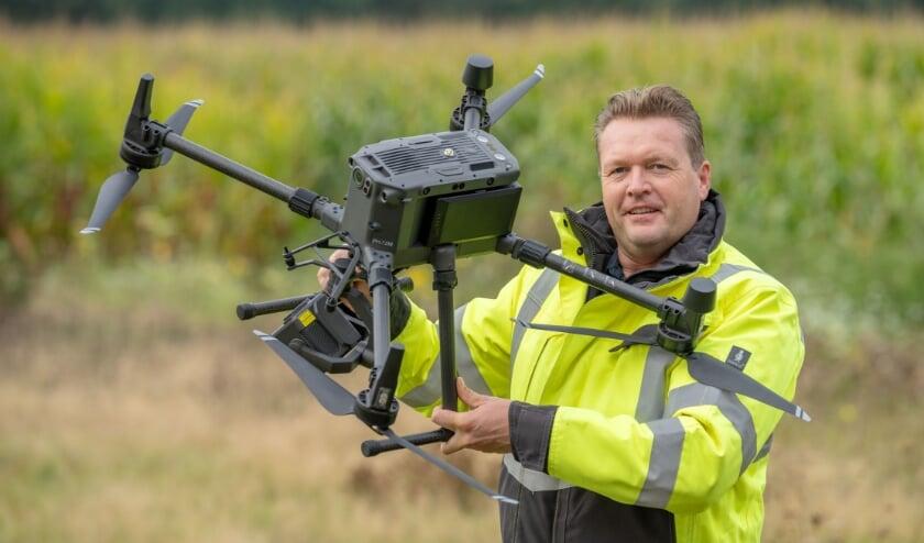 <p>Dronespecialist Wouter Borre ontvangt komende week de ZZP-leden voor een kennismaking.</p>
