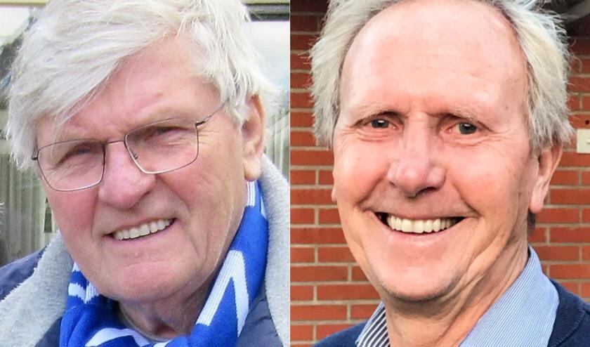 <p>Henk Lentelink en Paul Souverijn voetballen nog steeds actief in competitieverband bij De Zweef.</p>