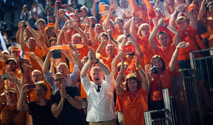 Het Nederlandse team tijdens de sluitingsceremonie van WorldSkills.