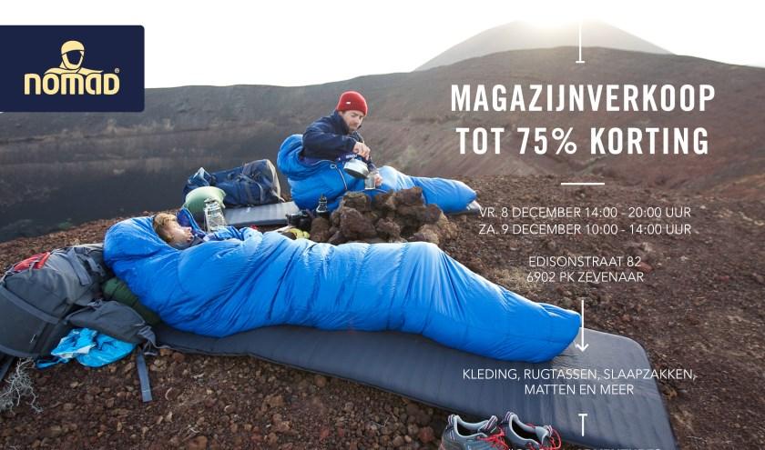 arriveert laatste korting wereldwijd verkocht NOMAD Magazijnverkoop op vrijdag 9 en zaterdag 10 december ...