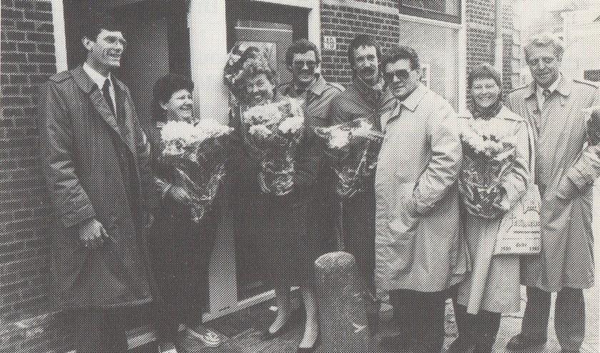 Wie weet wie er op deze foto staan? Hij is gemaakt in het Westerkwartier in 1985. Reacties: redactie.dp@persgroep.nl