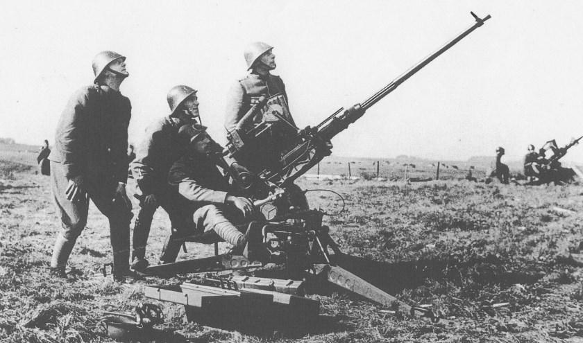 Afweergeschut moest Delft in mei 1940 tegen de aanvallende Duitsers beschermen.