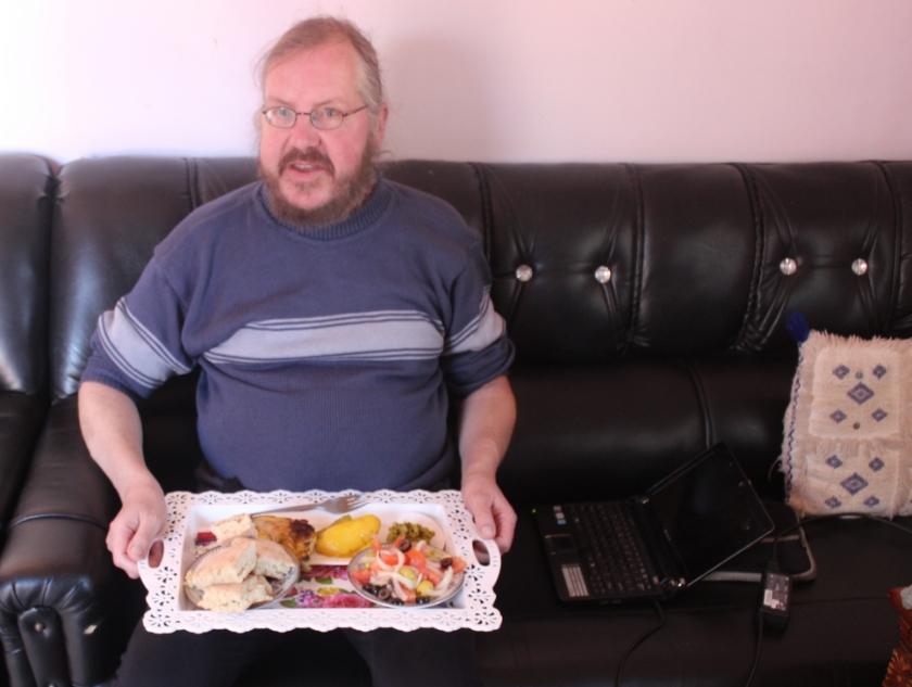 ''Ik kom weinig tekort. Het ontbijt, de twee uitgebreide warme maaltijden en thee met lekkers worden prima verzorgd.''