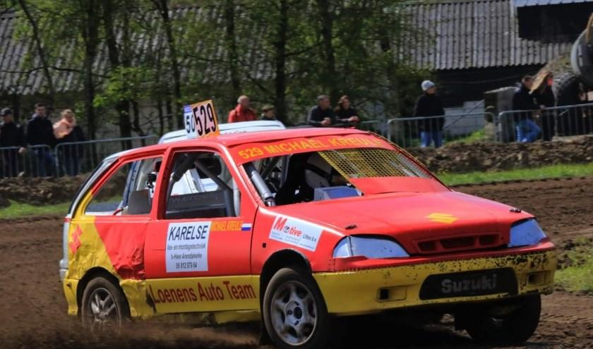 Voor rijder Michael Kreule uit Eindewege is de autocross een thuiswedstrijd.