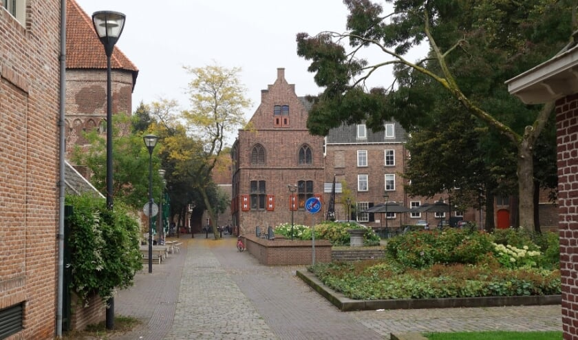 <p>De Krabbestraat in Zwolle, een van de Hanzesteden in de wandeling.</p>