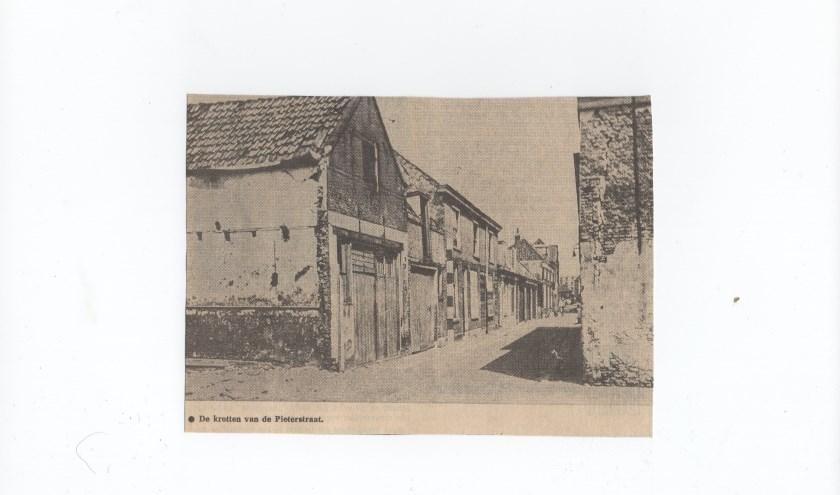 Een oude foto van de Pieterstraat.
