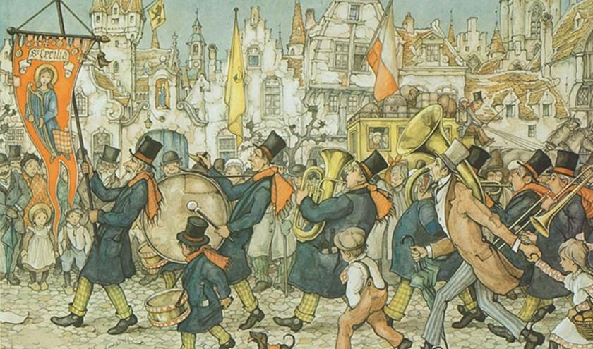 De Vlaamse fanfare van Anton Pieck.