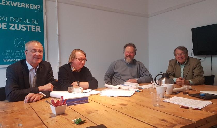 Sjoerd Tiemstra, Jos van de Lindeloof, Hans Bakker en Wytze Patijn.