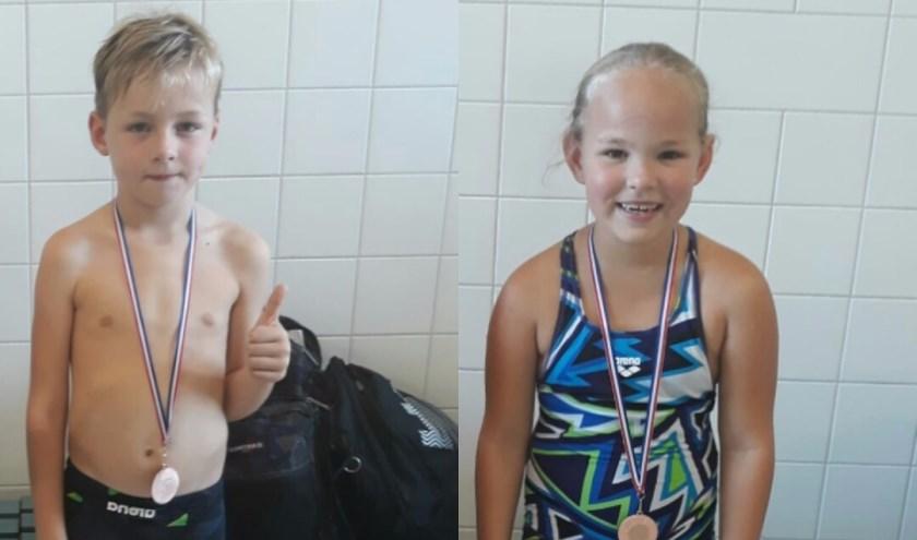 Twee van de medaillewinnaars: Lars en Roos