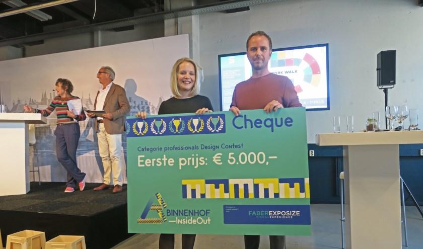 Edwin Scheepens en Janneke Verhagen van Studio Zuid Design bedachten de Stork Walk waarmee ze de hoofdprijs wonnen.