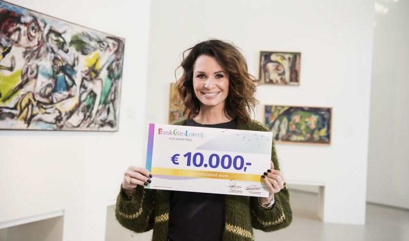 Ambassadeur Leontine Borsato van de BankGiro Loterij.