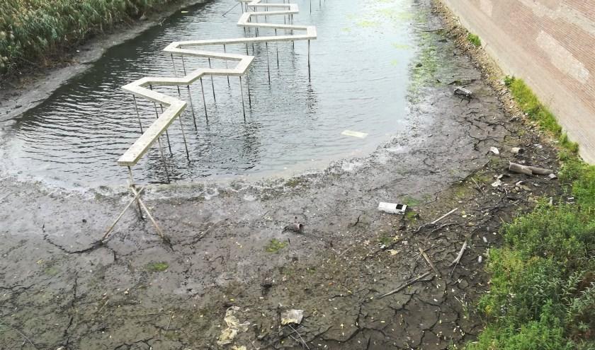 De Duveltjesgracht staat nu vrijwel droog.