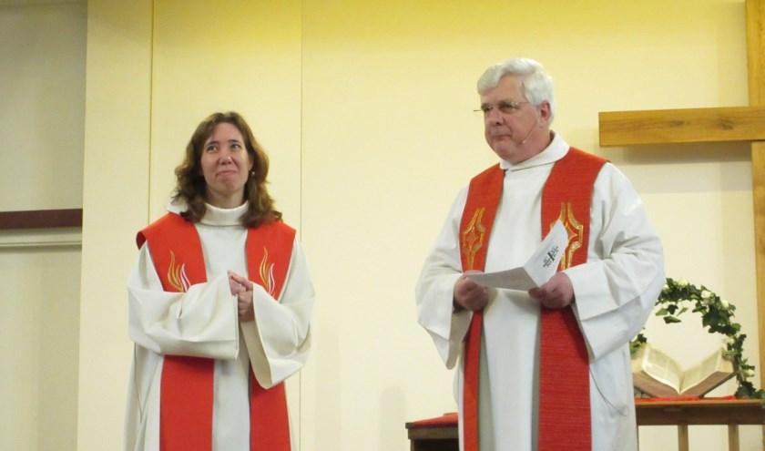 De predikanten in de Plantagekerk zijn Marissa van Meijl en Aad Woudenberg