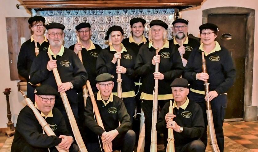 Midwinterhoorngroep Lievelde omlijst de midwinterhoornwandeling in Zieuwent. (Foto: PR)