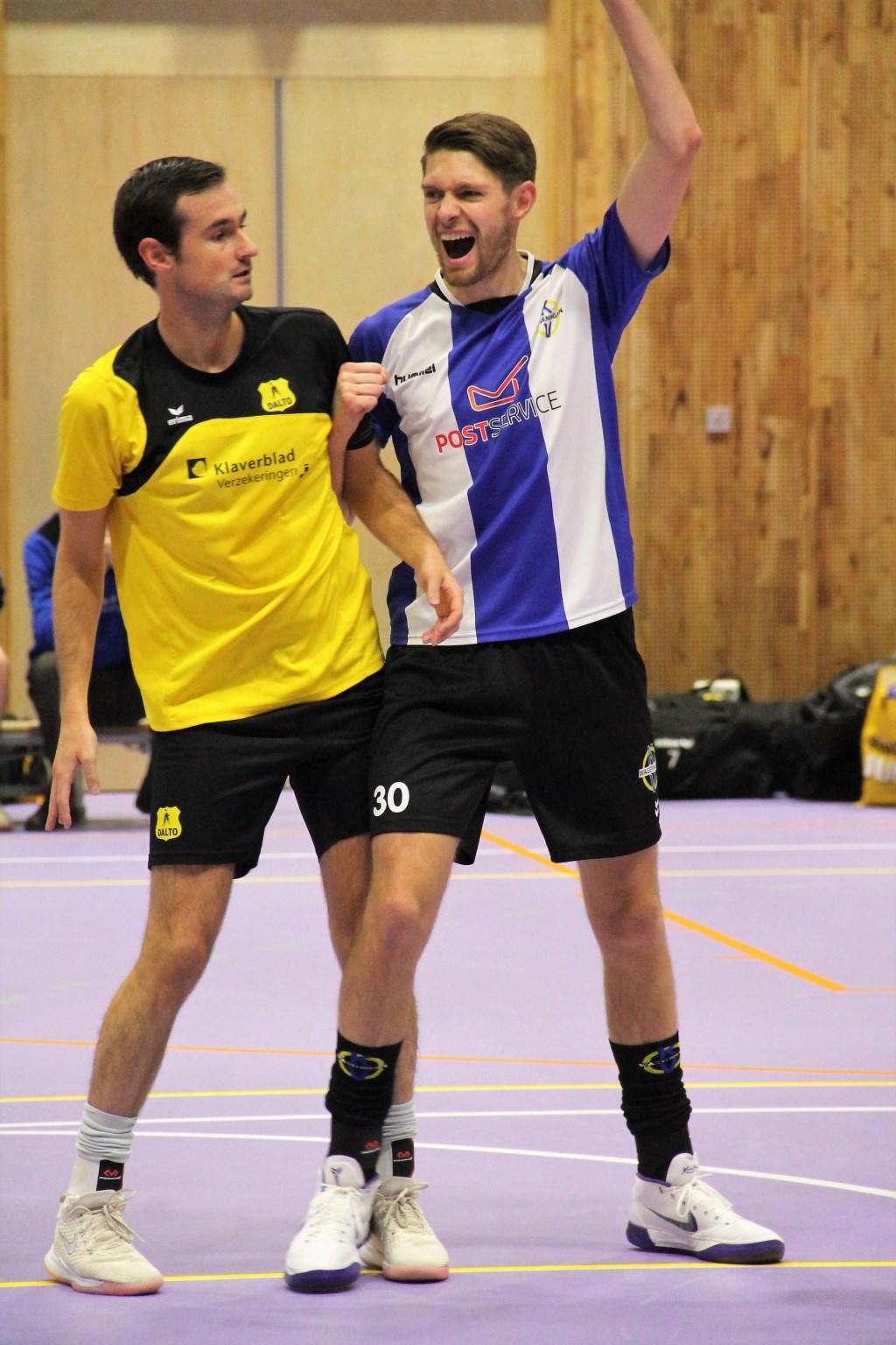 Wageningen speler Wouter ter Maten was zaterdag topscorer Foto: Patricia Brouwer © DPG Media