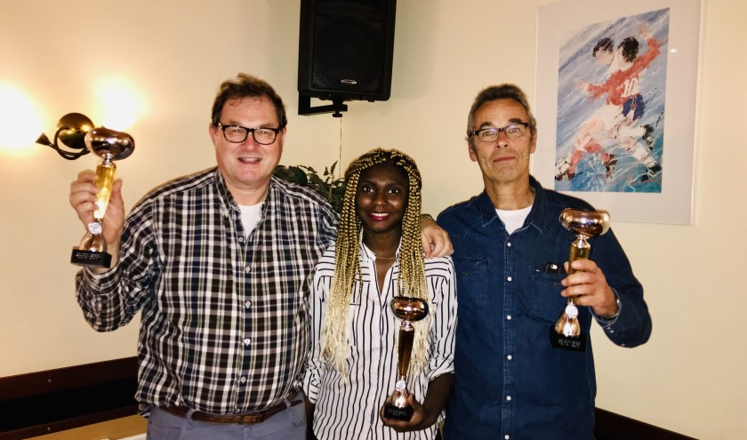 De kampioenen van Appoldro: Bert, Christelle en Diederik