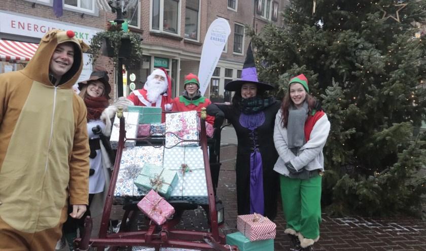 De kerstman was ook op de kerstmarkt in Culemborg