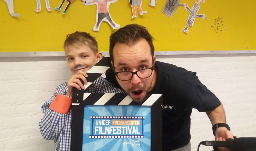 Filmcoach Jeroen tijdens de opnames