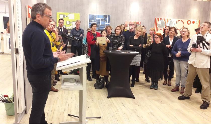 Kunstenaar Hans Broek haalde zijn herinneringen op aan Allard. (Foto's: Martin Brink/Rijnpost)