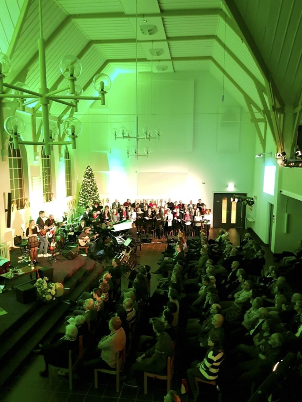 De Immanuelkerk zat de drie eerdere edities van de Top 2000-dienst telkens nagenoeg vol. Foto: Miriam Plaggenborg © DPG Media