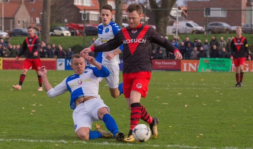 Het eerste deel van de wedstrijd was Papendrecht de bovenliggende partij.  (Foto: Guillaume Kortekaas)