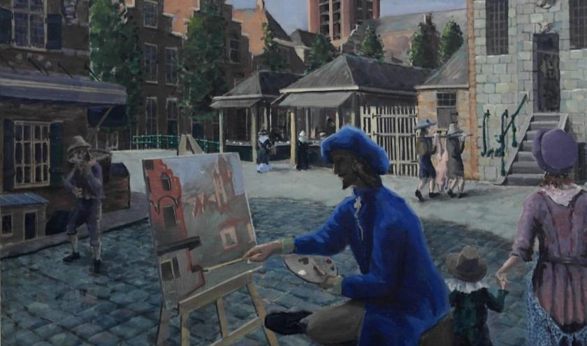 Justus nog in Delft, door Rimke Stolk.