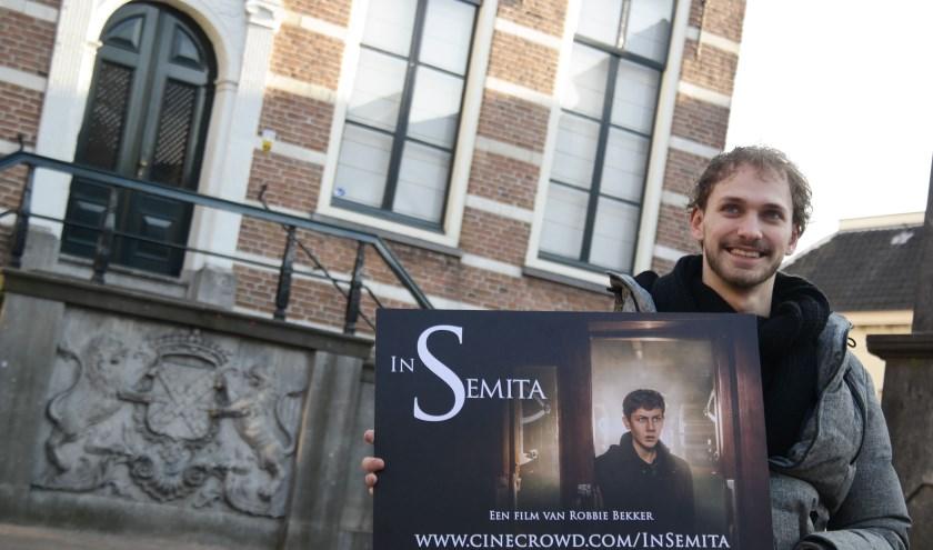 Robbie Bekker zoekt de laatste financiële bijdragen voor zijn afstudeerfilm aan de HKU. (Foto: Bart Rietveld)