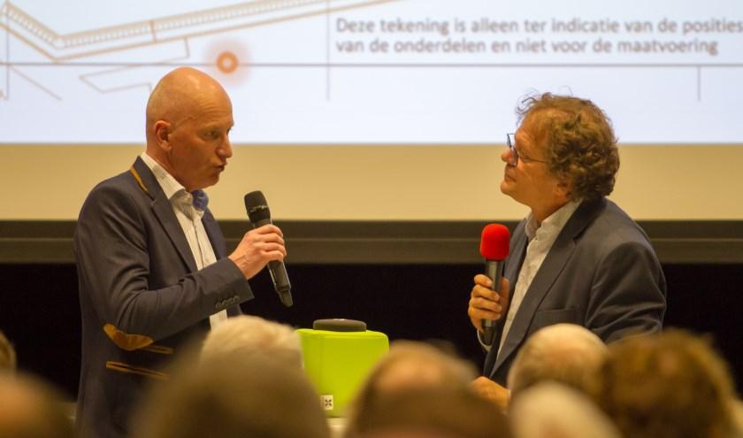 De overheidsdiensten leggen de toetsing van de ontwerpvergunning van de megavergister in Groenlo uit. (Foto: Marcel Houwer