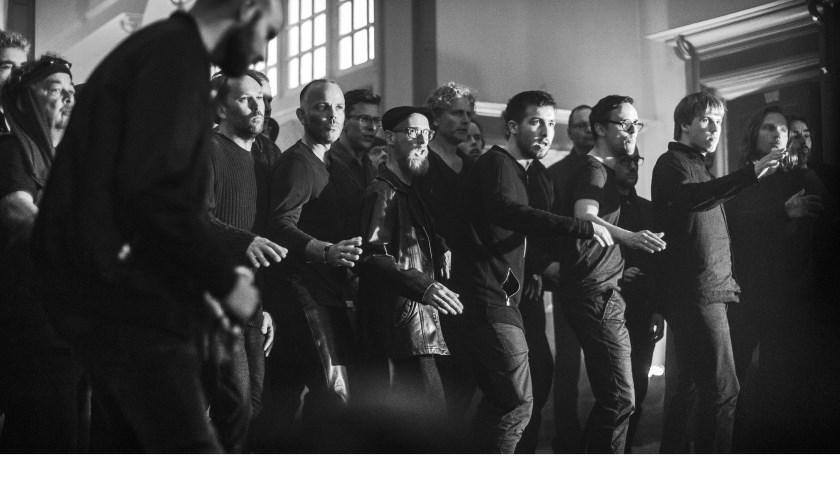 A capella mannenkoor Koorbazen. (foto: Erik Franssen)