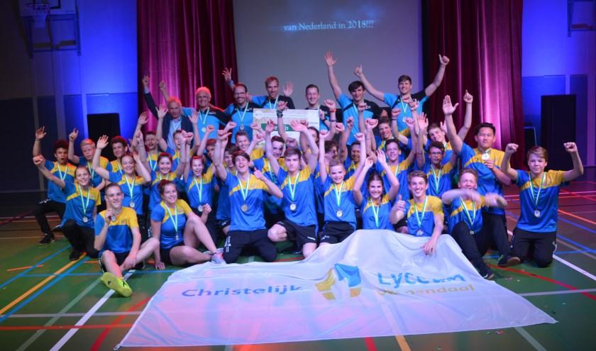 Trotse winnaars sportiefste school van Nederland