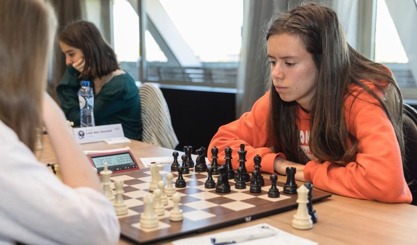 Anna Martinez aan het begin van de zesde ronde. (foto: Harry Gielen)