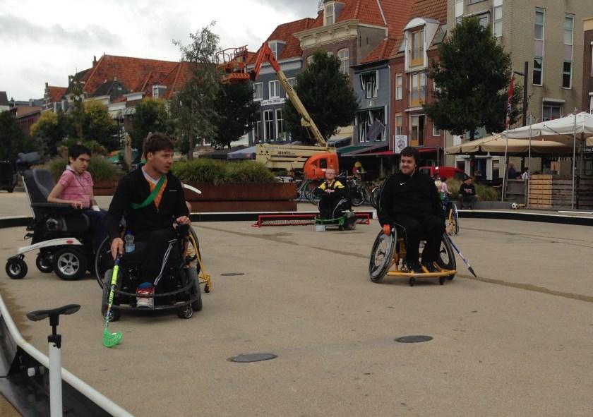 Clinic rolstoelhockey Vlissingen 2016
