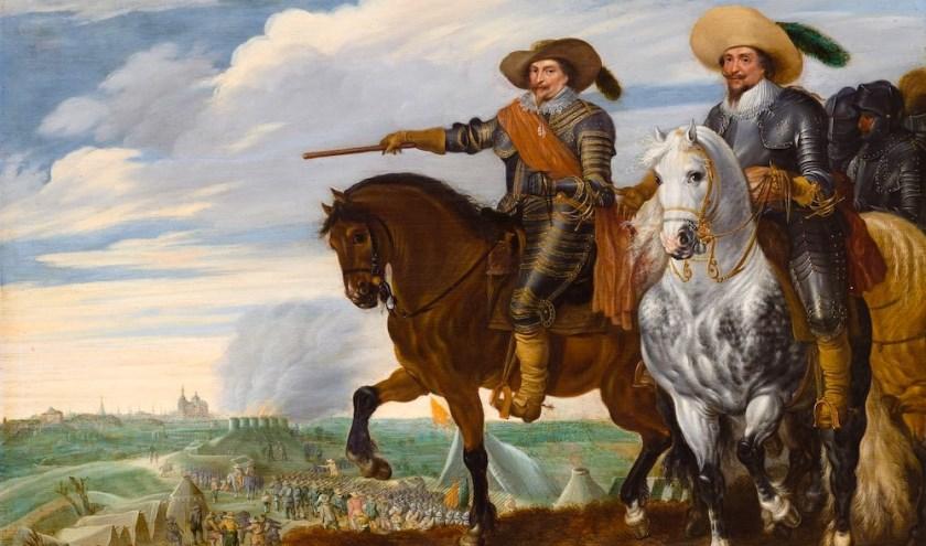 Prins Frederik Hendrik en graaf Ernst Casimir bij het beleg van Den Bosch, 1629