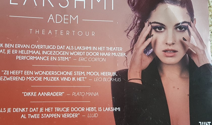 Flyer van de theatertour