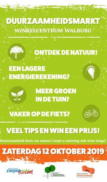 Zaterdag vindt de Duurzaamheidsmarkt plaats bij en in winkelcentrum Walburg (Foto: PR)