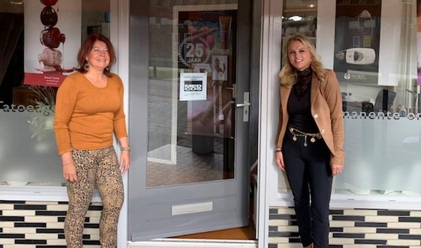 Karin Kuipers (links) van Beauty Corner is per 1 oktober een samenwerking aangegaan met Miranda Varvik, nagelstyliste en specialist op het gebied van wimper extensions en lashlifting.