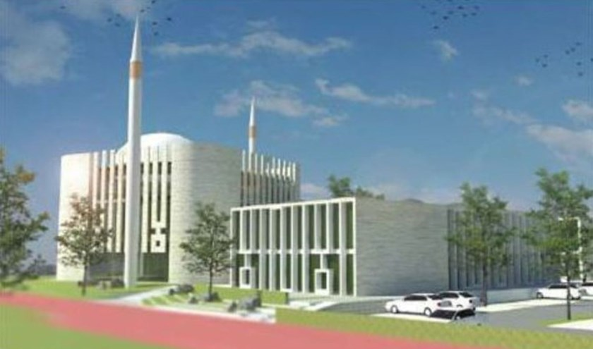 Visualisatie voorlopig ontwerp Eyup Sultan Moskee (Foto: M3 Architecten)