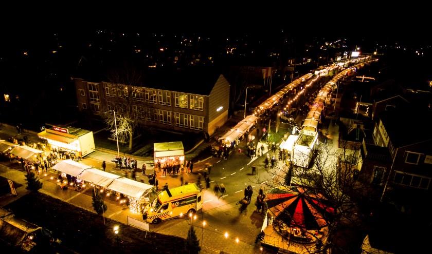 De kerstmarkt in Vroomshoop is dit jaar op vrijdag de dertiende.