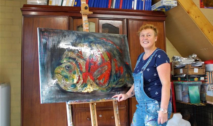 Corine Wouters uit Oostelbeers gaat workshops schilderen verzorgen voor basisschoolkinderen in ontmoetingscentrum Ons Mevrouw.