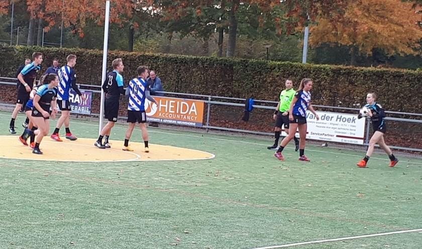 Spelmoment laatste wedstrijd buiten: Heerenveen - Wageningen