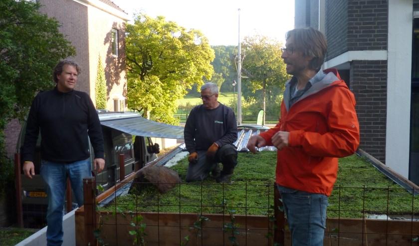 Jeroen Herremans opent de Duurzaamheidsweek in het Burgemeesterskwartier. (foto: Hilde Wijnen)