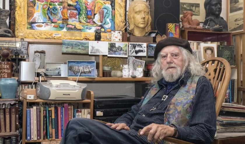"""Pete Simpson: ,,Voor een straatartiest valt er niet veel meer te verdienen."""" (foto Auke Pluim)"""