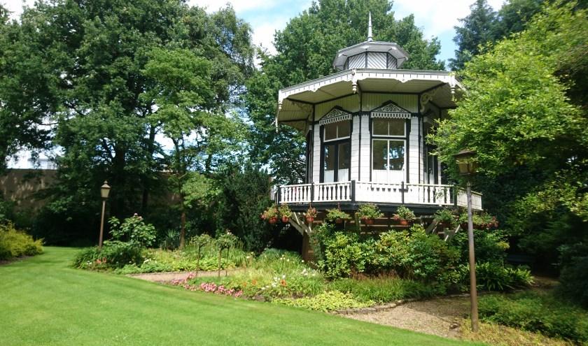 Het theehuisje in het Floraliapark