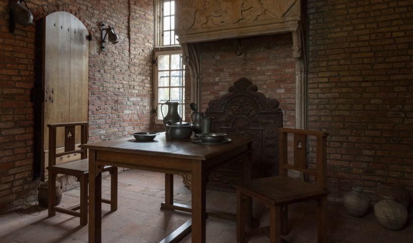 Rietveld maakte een serie meubels voor het Poortgebouw. Foto: Slot Zuylen/Alex Bunjes