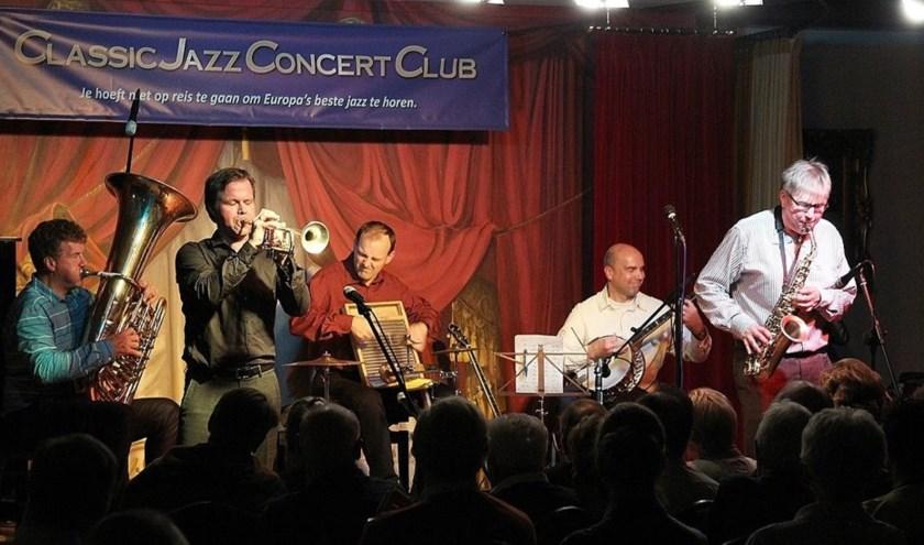 De band is gespecialiseerd in jazz van eind jaren '20. Eigen foto